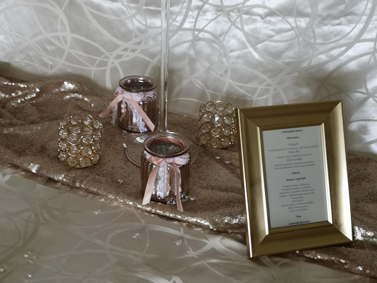Dekorácie stolov pre svadobných hostí - Obrázok č. 8