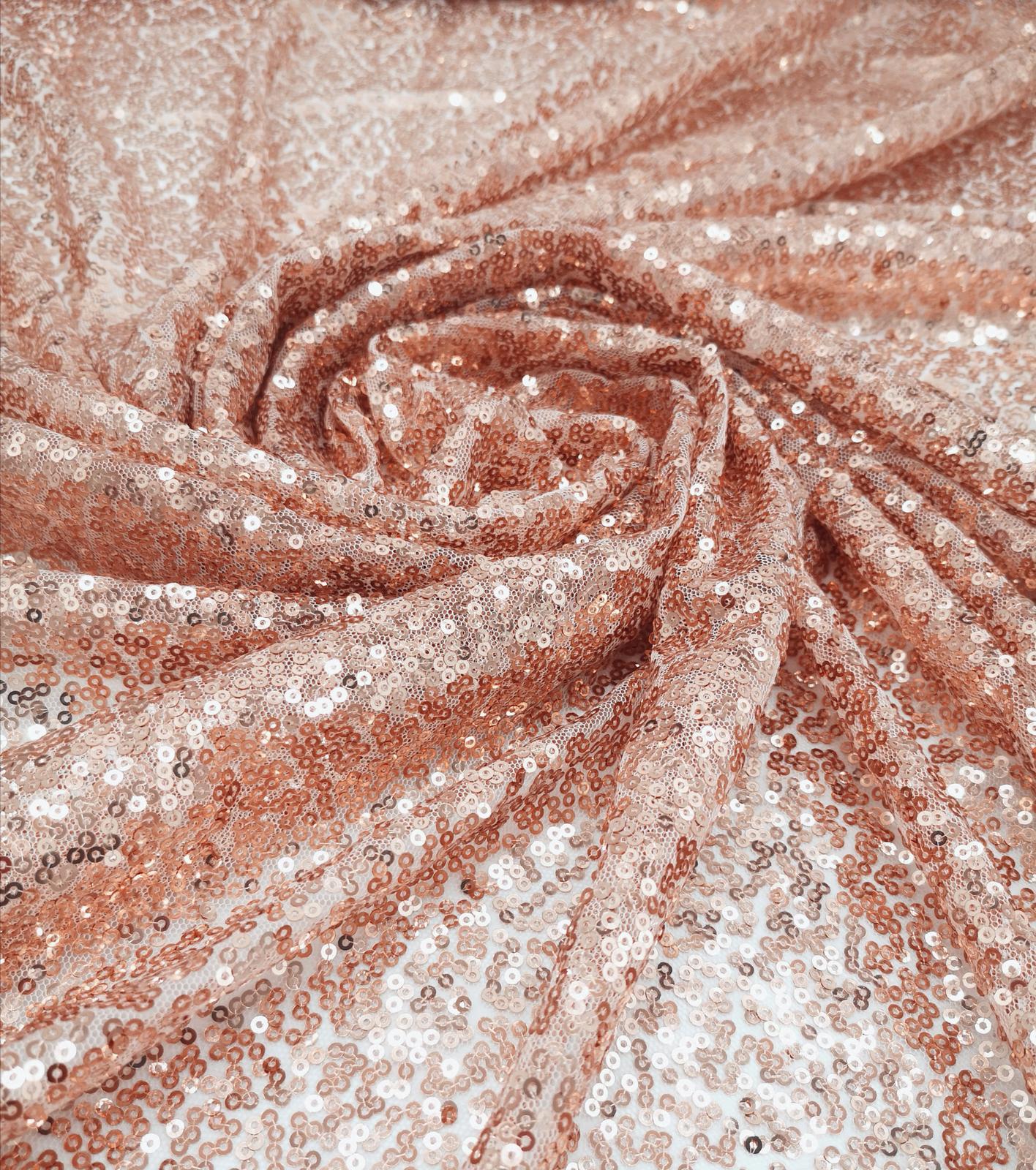 Prenájom - Flitrovaný obrus rose gold 180 x 120cm - Obrázok č. 1