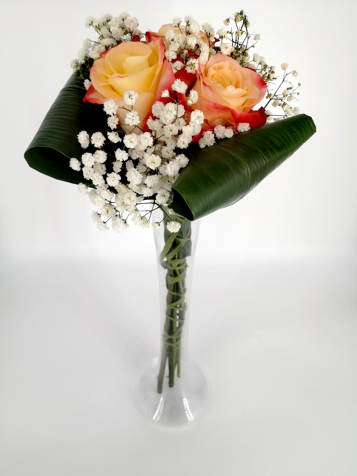 Prenájom - Úzka vysoká váza 40 cm - Obrázok č. 1