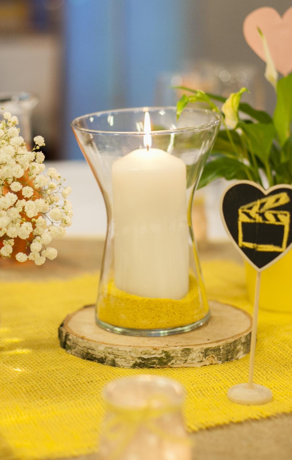 Prenájom - sklenená váza 19,5 cm - Obrázok č. 1
