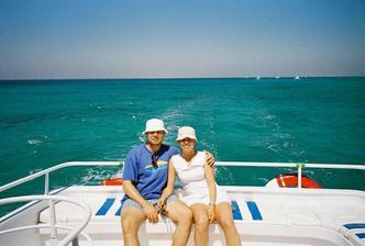 výlet loďou po Červenom mori...