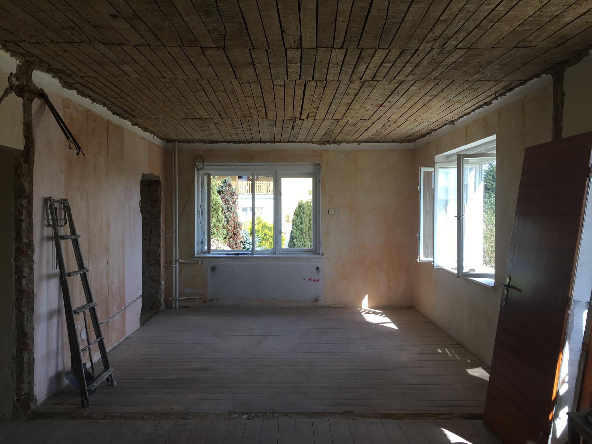 Rekonstrukce 🏡 20/21 - Shoz rákosu ze stropů
