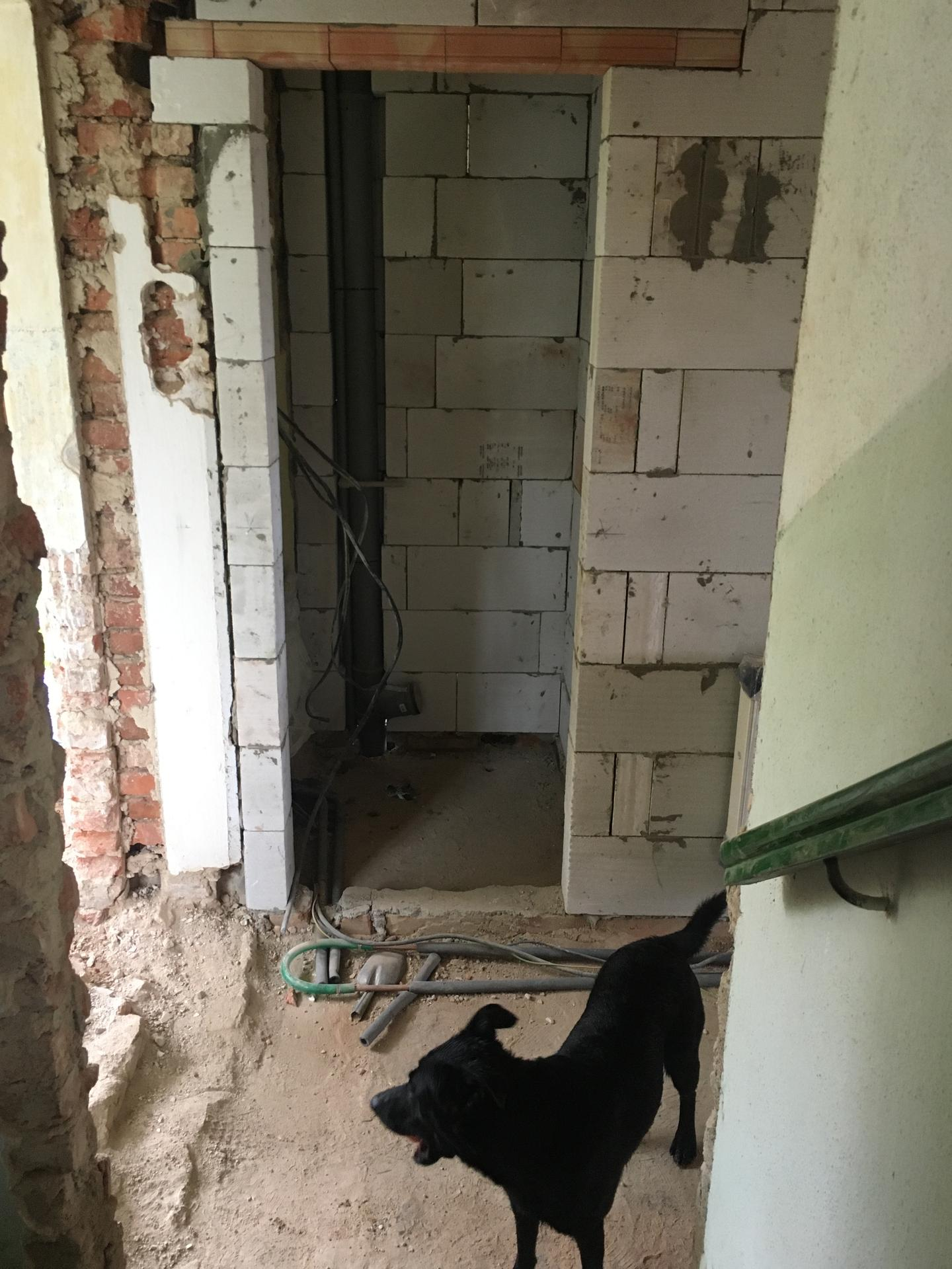 Rekonstrukce 🏡 20/21 - Vyzděno nové WC