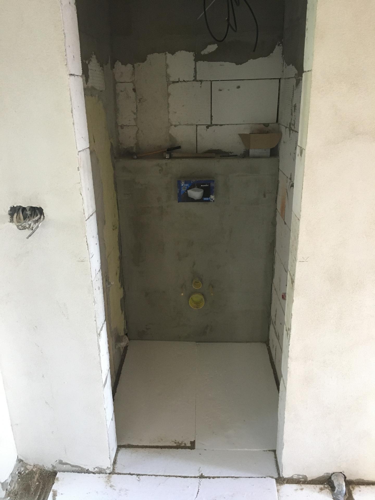 Rekonstrukce 🏡 20/21 - Zazděn WC modul