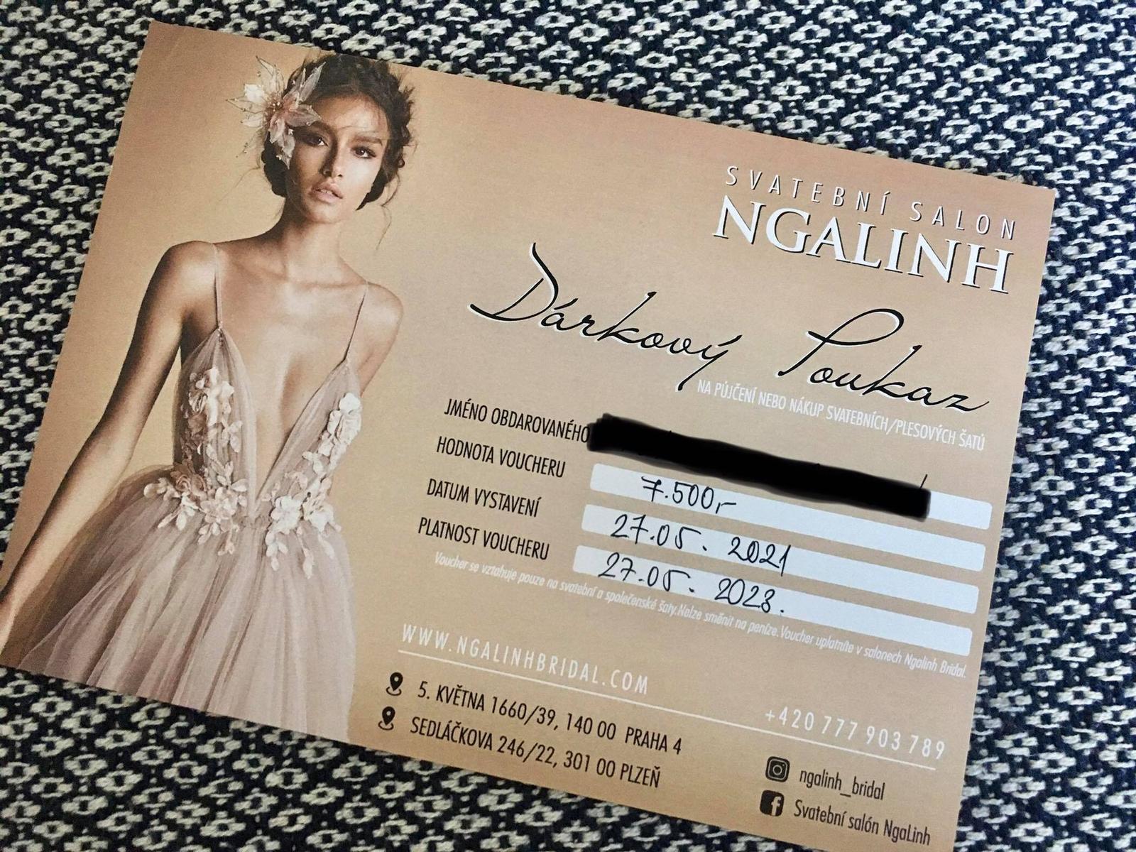 Voucher na šaty ze svatebního salonu Ngalinh - Obrázek č. 1