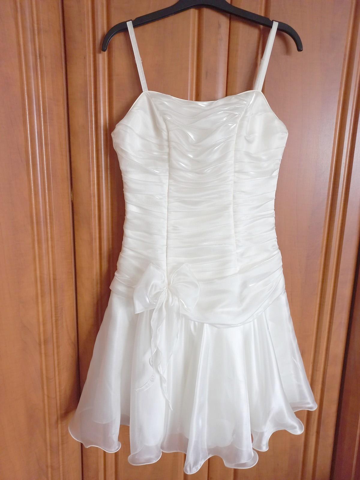 Krátké svatební šaty vel. 36-40 - Obrázek č. 1