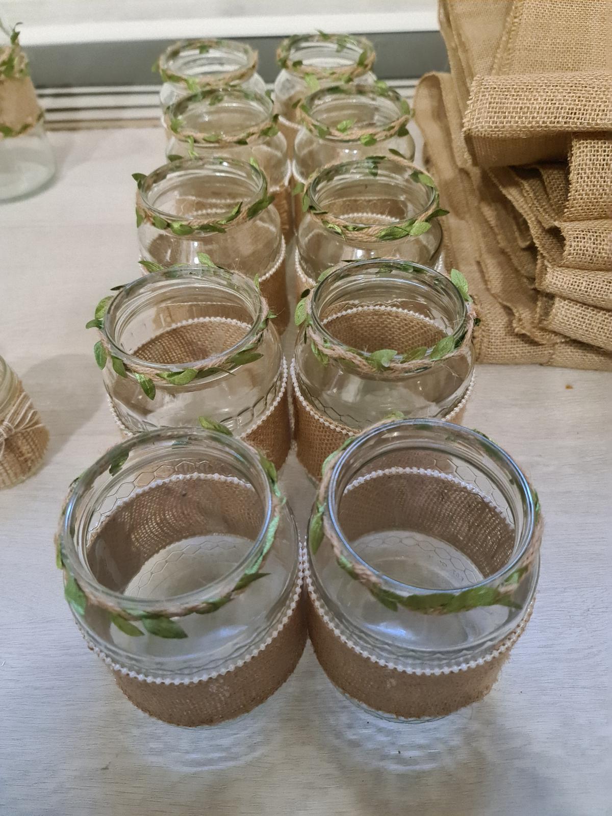 zdobená sklenice - váza - Obrázek č. 1