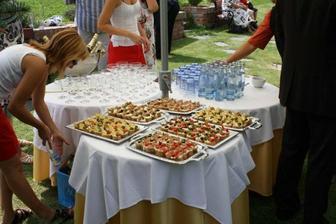 Občerstvení před obřadem