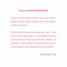 Text z 1. stránky naší svatební knihy