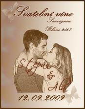 etiketky na vínka jsme si vyrobili sami