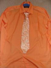 košile s kravatou pro ženicha:-)