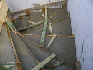 ... a betonovanie schodov...