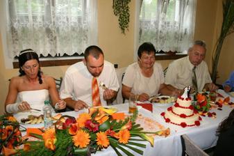 obídek a zblízka hlavní dortík