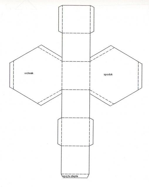 Krabičky - šesťhranná krabička - tiež je zvláštna