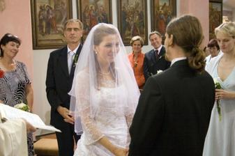 Já Petr, odevzdávám se tobě, Aleno, a přijímám tě za manželku...