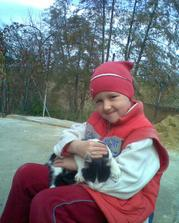 spokojené dítě, s naším kocourem č.2