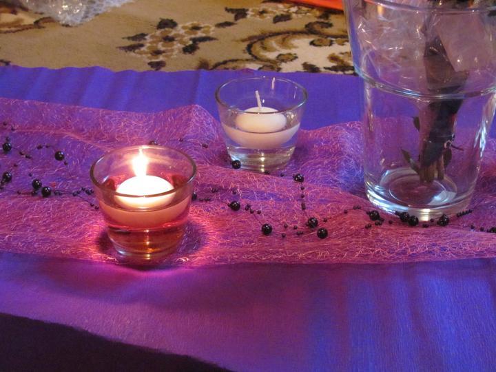 Náš veľký deň :) - a takto nejako budeme mať plávajúce sviečky :)