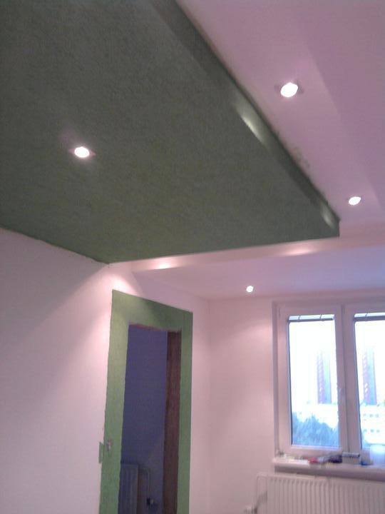 Rekonstrukce pracovna, loznice, obyvka, hala, detsky - detail strop obyvka