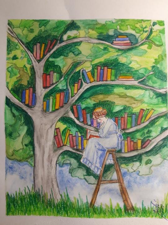 Dom vytvoríš rukami, domov jedine srdcom - Obraz od našej projektantky-susedky do knižnice ❤️