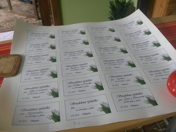 Naše prípravy - nase nalepky na vysluzky:)