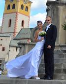 Originálne svadobné šaty plus topanocky, 36