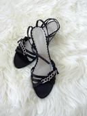 Černé sandálky Deichmann, 41