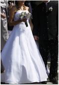 Překrásně jednoduché bílé svatební šaty vel.38-40, 40