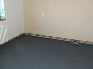 Položený koberec...