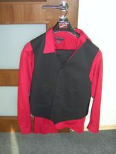 Oblek pro ženicha....košile bude fialová...