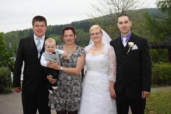 Kamarádka s manželem a malým Danečkem...