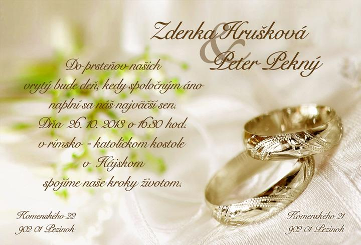 Svadobné oznámenia - Obrázok č. 91