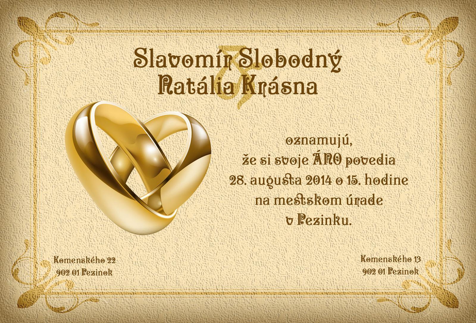 Svadobné oznámenia - Obrázok č. 109