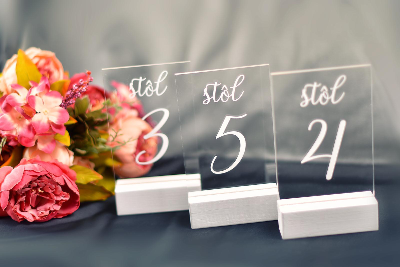 Čísla na stoly. - Obrázok č. 2