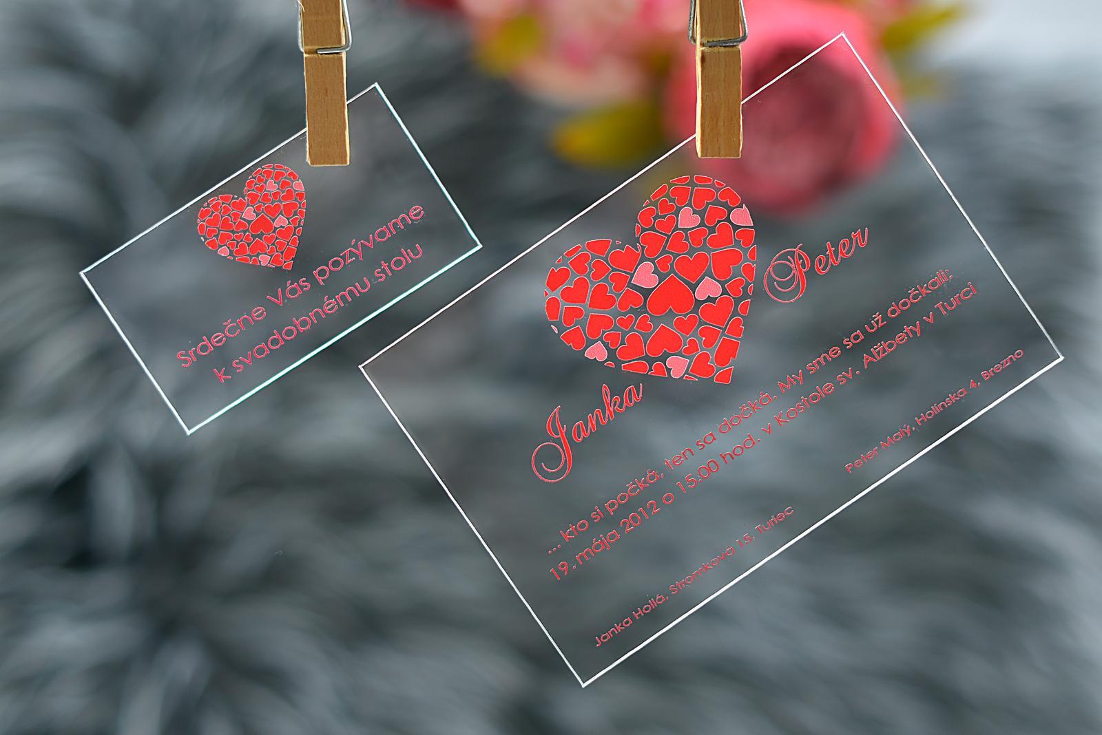 Transparentné svadobné tlačoviny - Obrázok č. 2