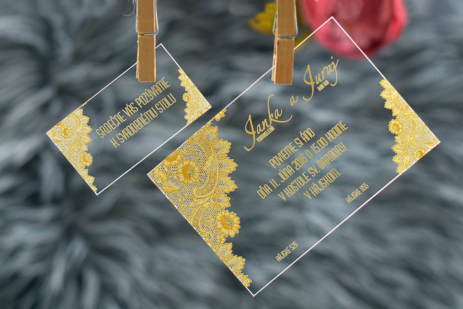 Transparentné svadobné tlačoviny - Obrázok č. 3