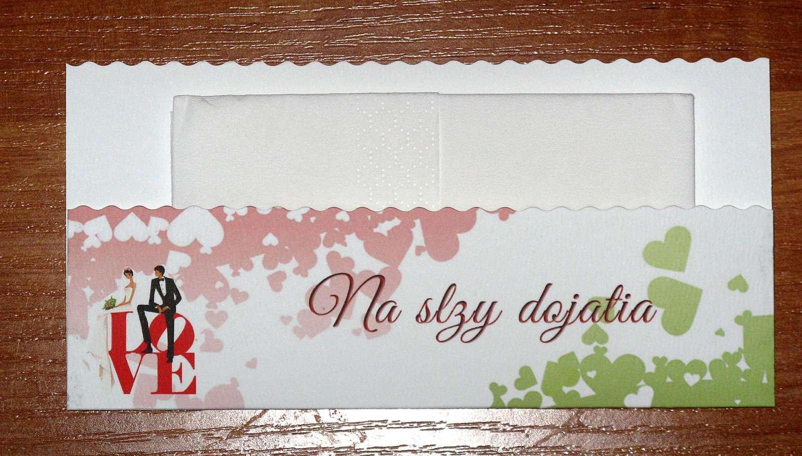 Obálky na servítky - na slzy šťastia. - Obrázok č. 1