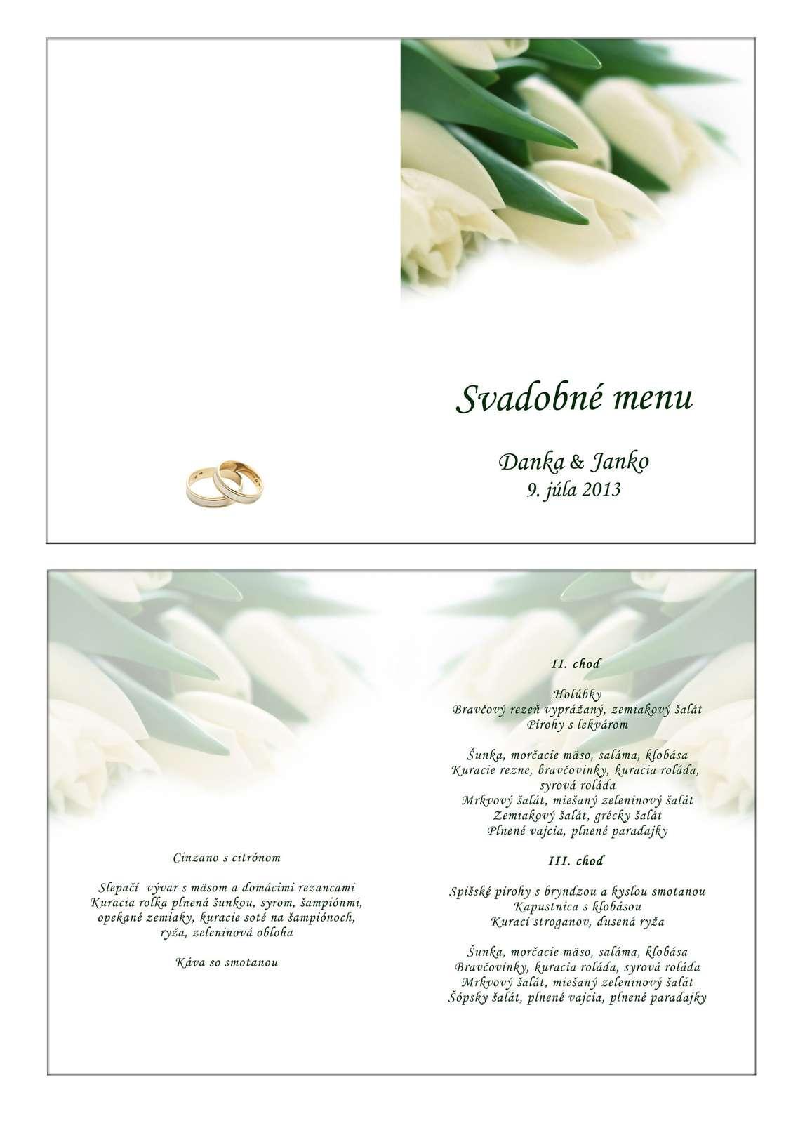 Svadobné menu - Obrázok č. 4