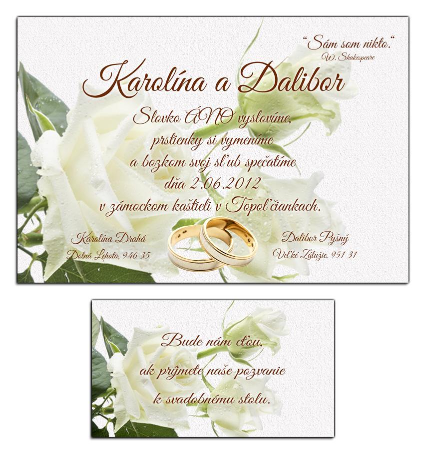 Svadobné oznámenia - Obrázok č. 2