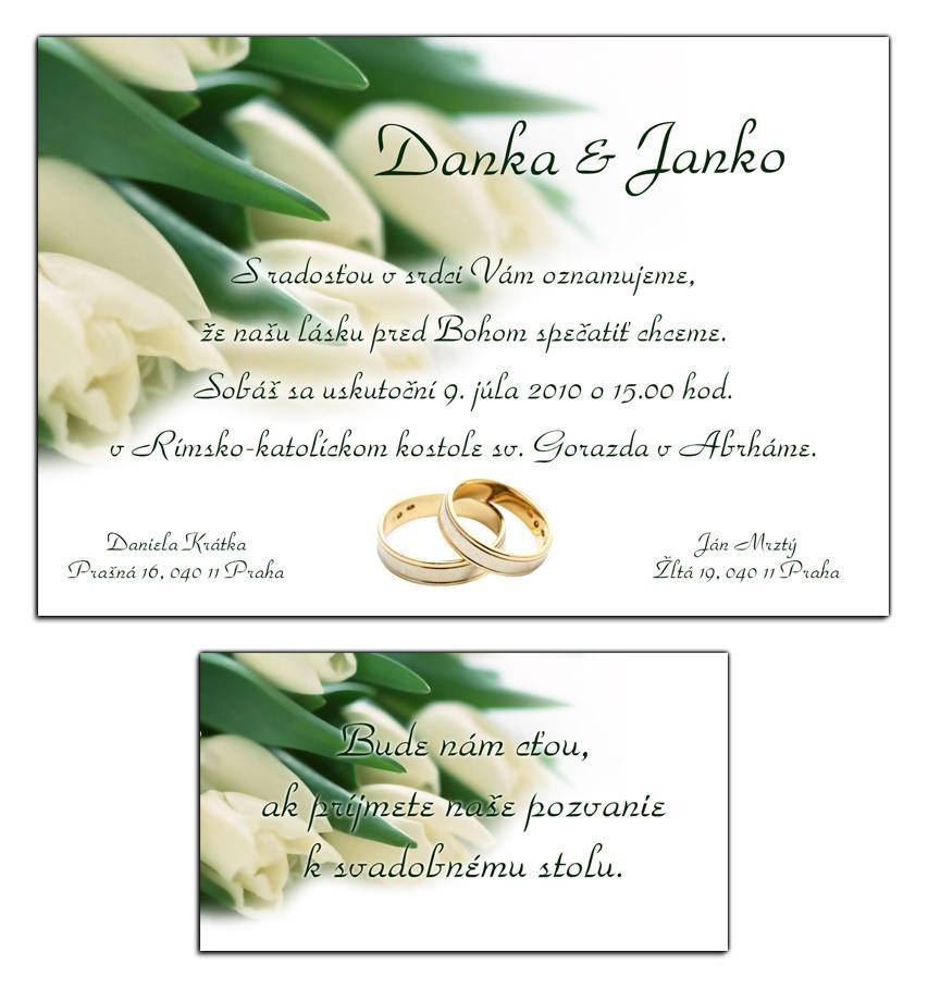 Svadobné oznámenia - Obrázok č. 3