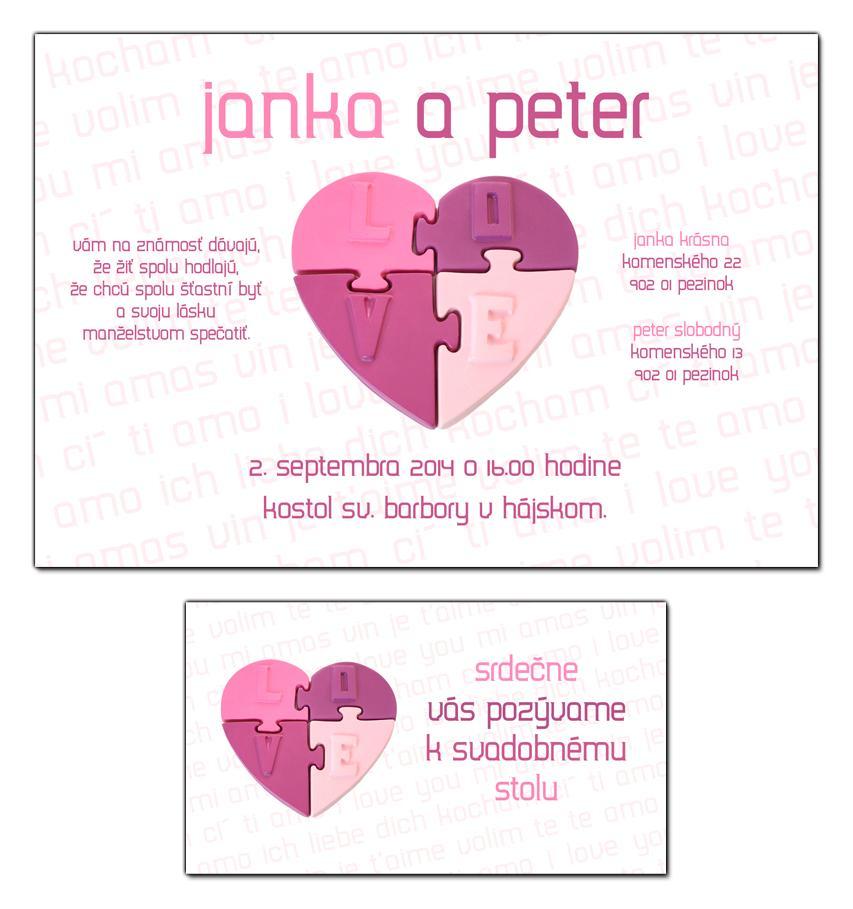 Svadobné oznámenia - Obrázok č. 1