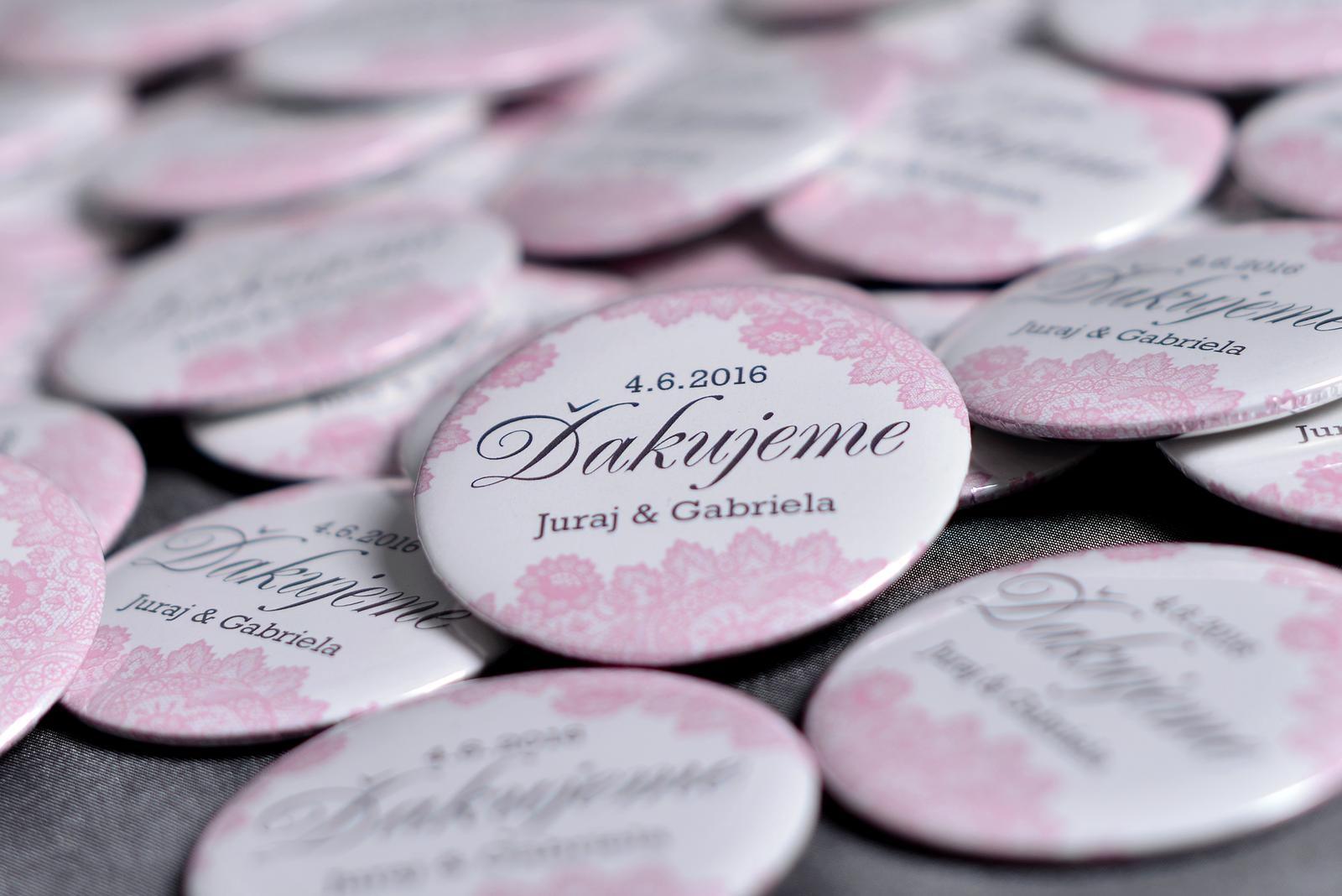 Svadobné buttony - Obrázok č. 1
