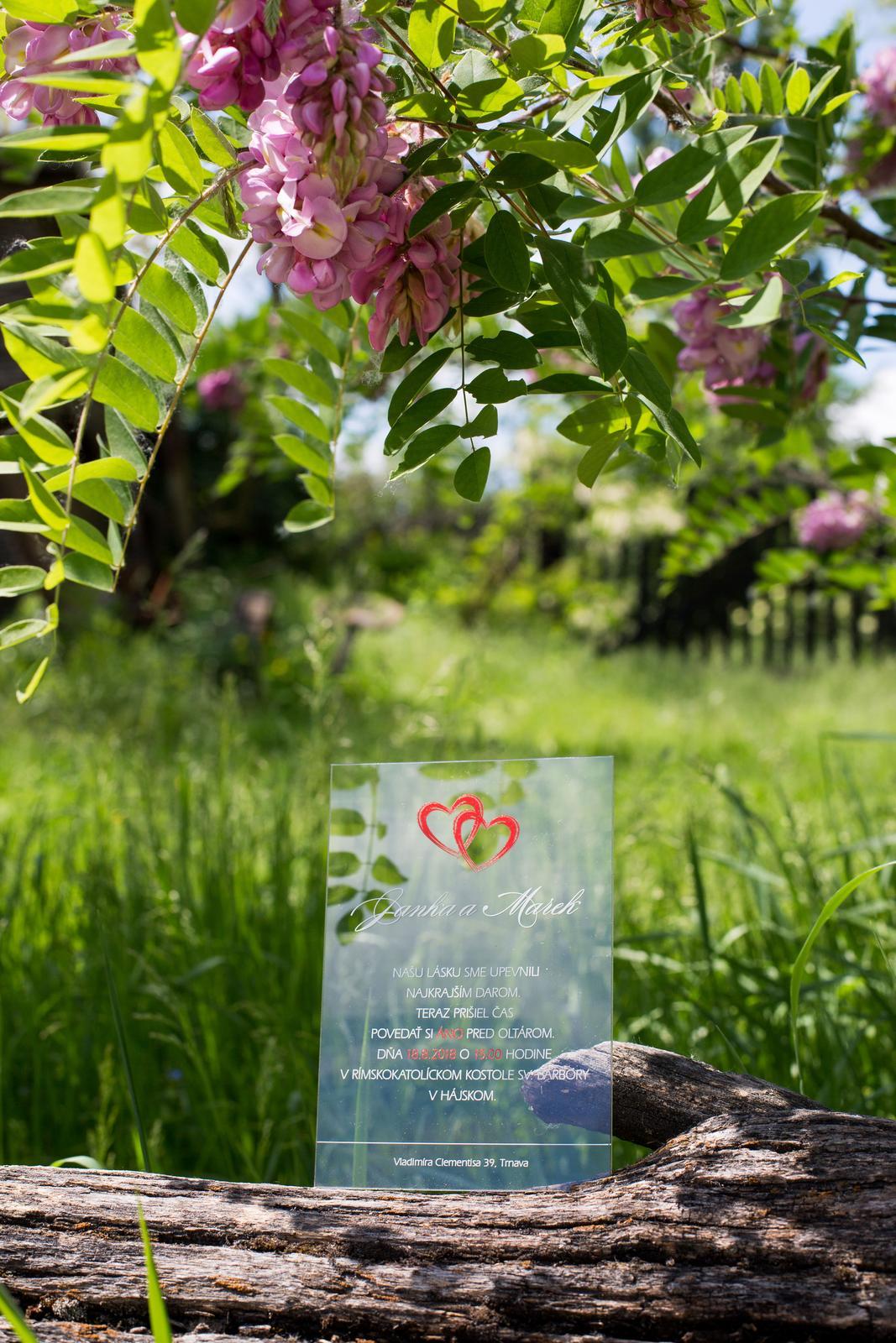 Transparentné svadobné oznámenia - Obrázok č. 2