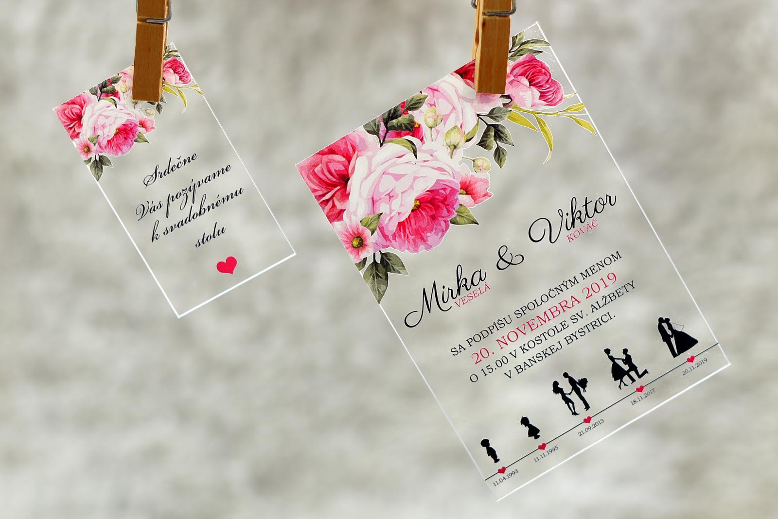 Transparentné svadobné oznámenia - Obrázok č. 4