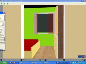 vchod do spalne, steny chceme urcite zelene..