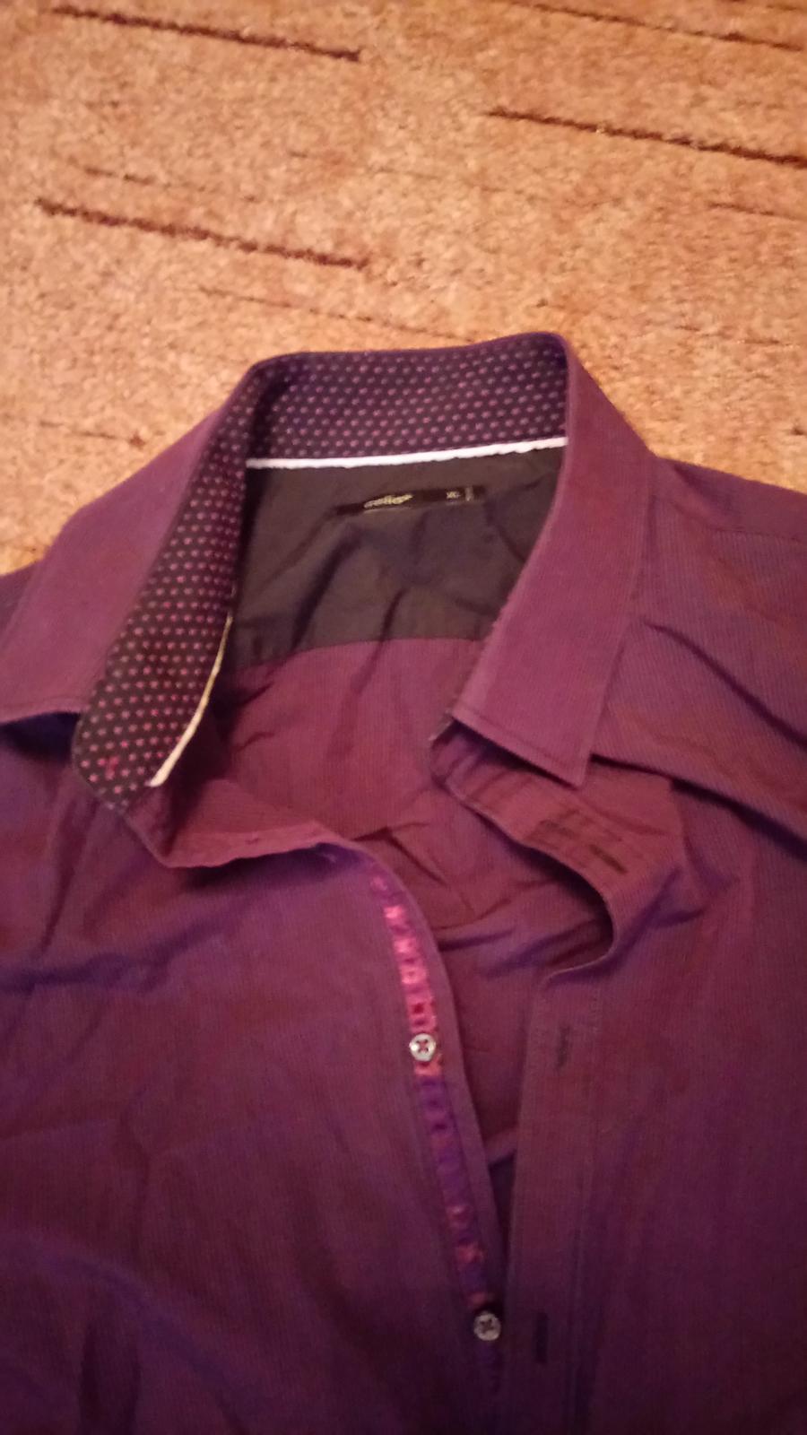 Fialová košeľa - Celio - Obrázok č. 2