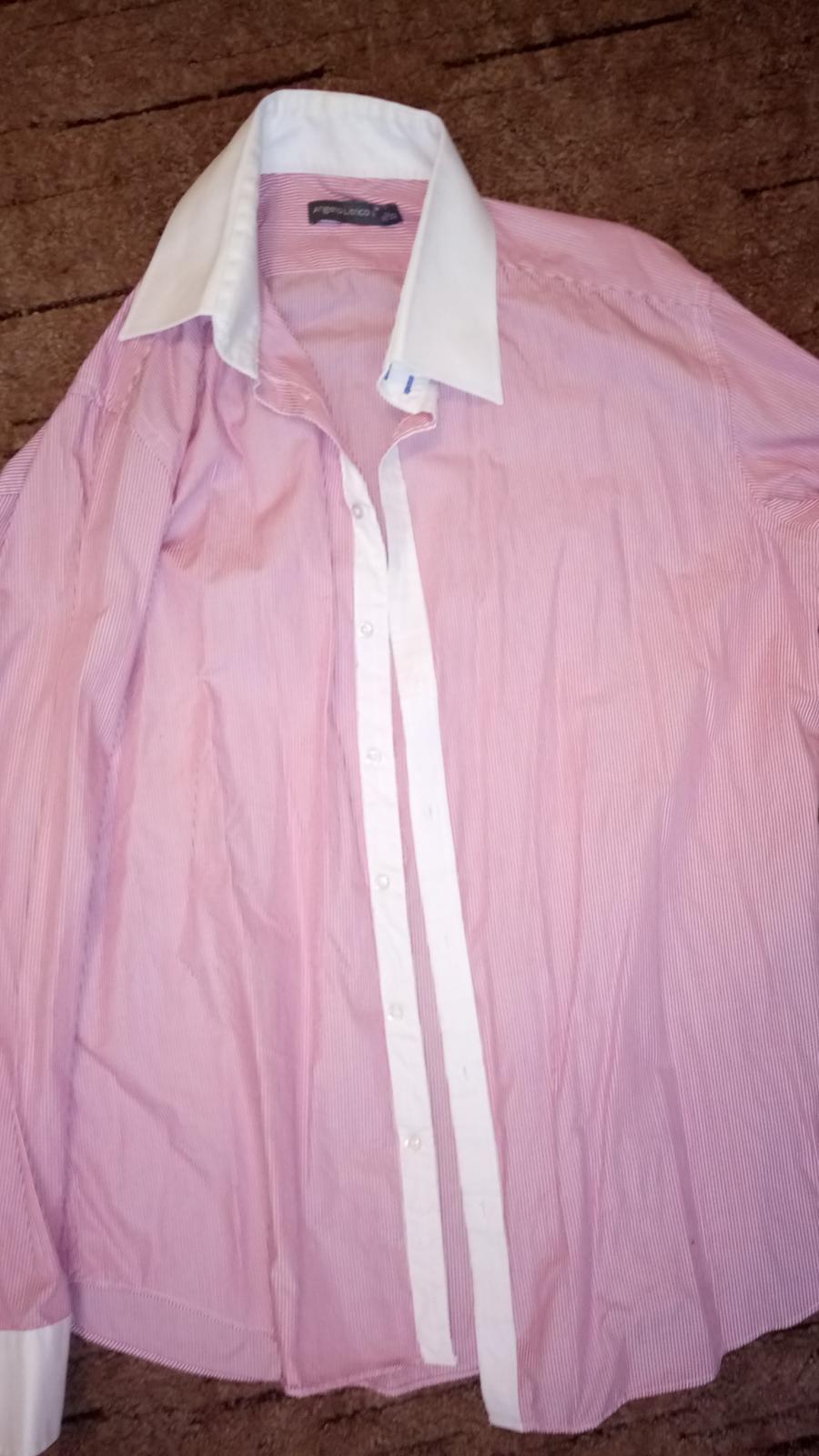 Angelo Litrico ružová košeľa - Obrázok č. 1