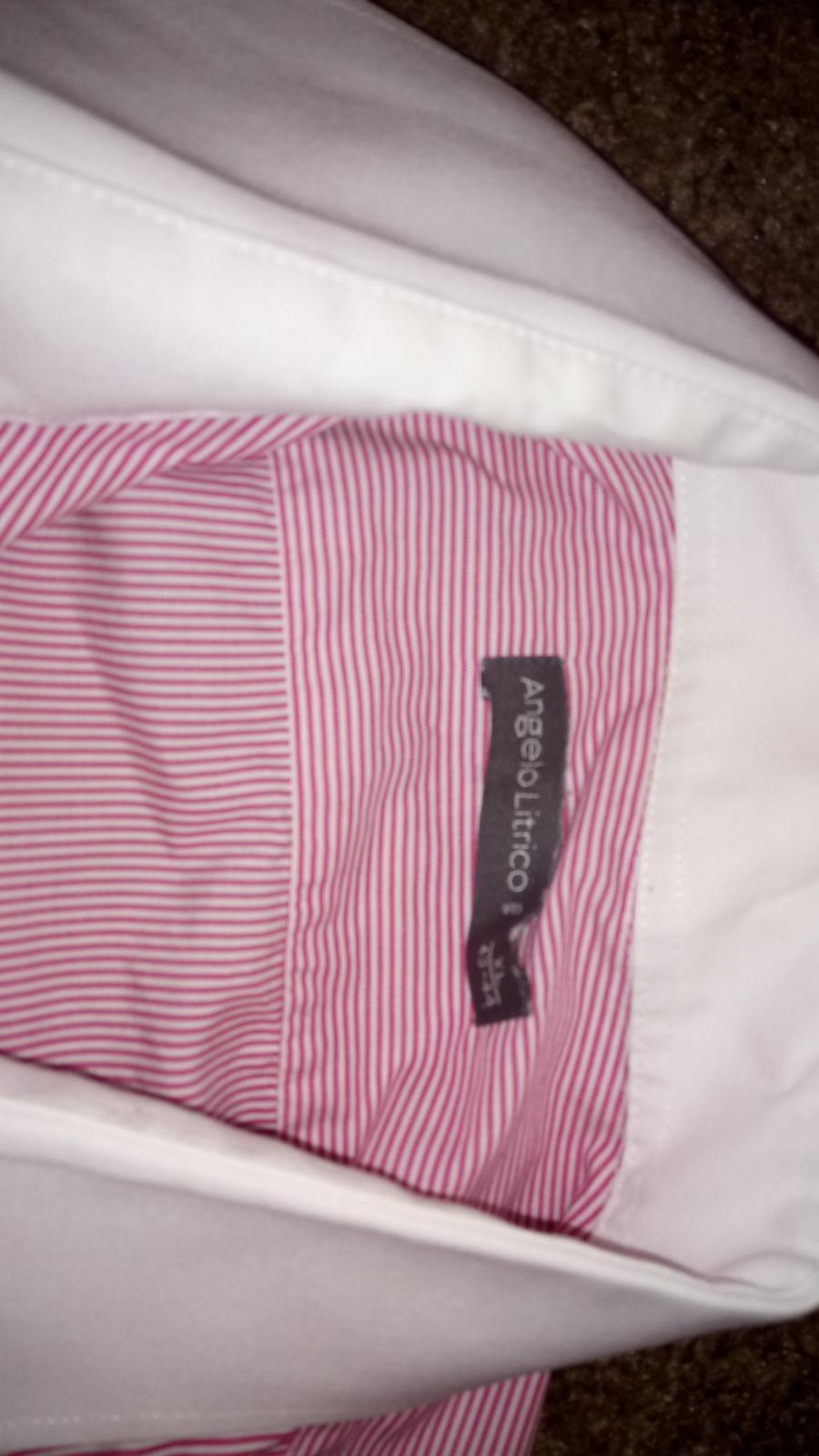 Angelo Litrico ružová košeľa - Obrázok č. 2