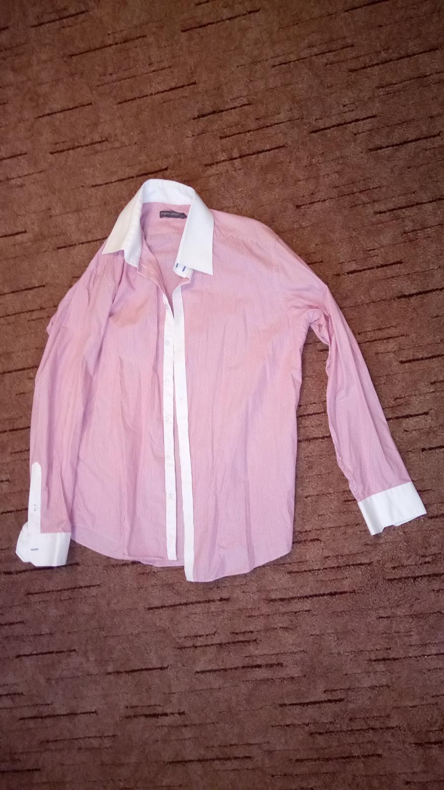 Angelo Litrico ružová košeľa - Obrázok č. 3