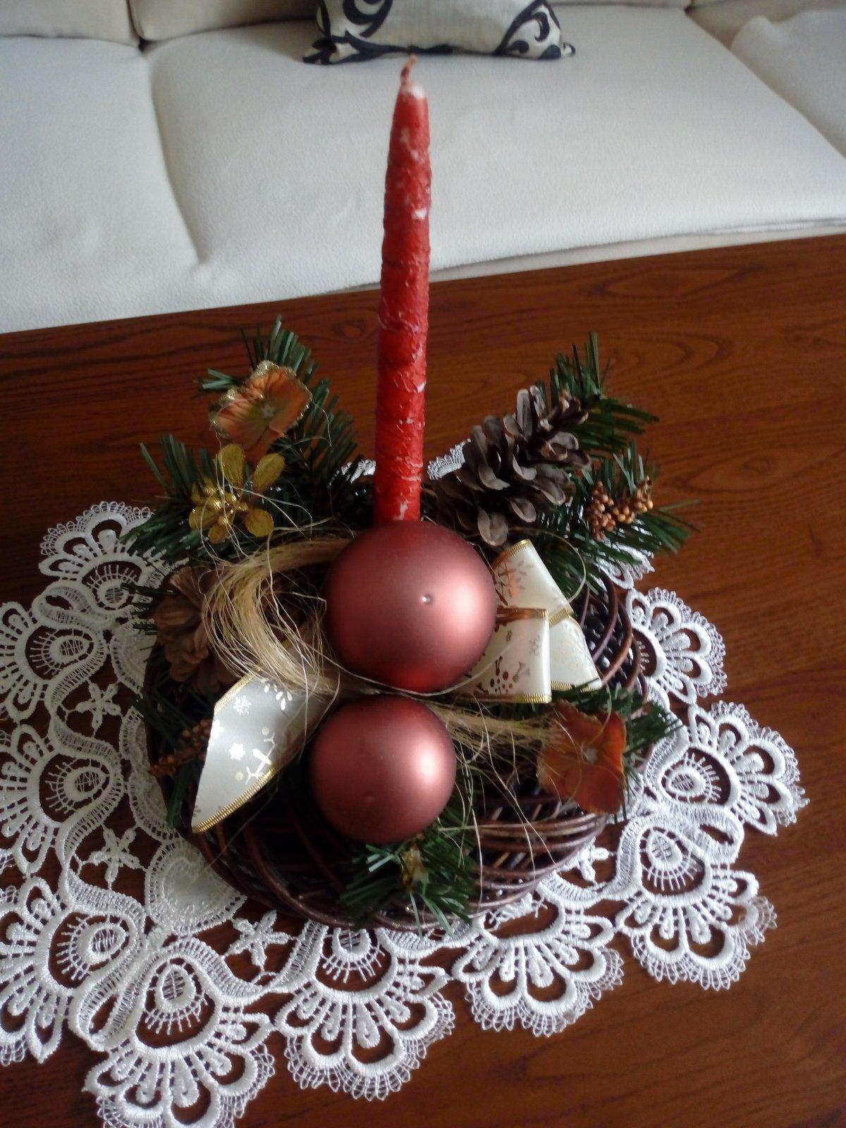 Vianočná ikebana - Obrázok č. 1