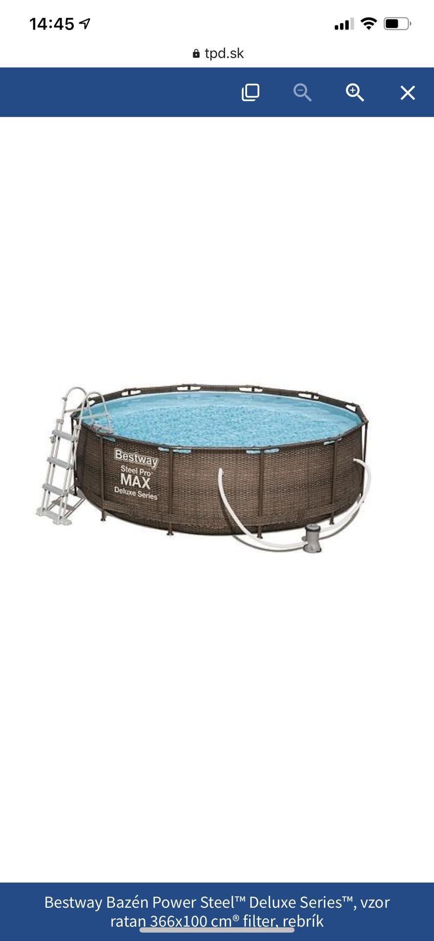 Nákupy do domčeka 🏡 - Nadzemný bazén, aspoň kým nebudeme riešiť exteriér a kým si to nerozmyslime nám bude snáď stačiť 😇 kupovaný v kinekuse, keďže ho mali za bezkonkurenčnú cenu ❤️